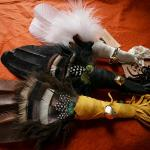 Prayer Feather smudging fans - Triple Feathered.